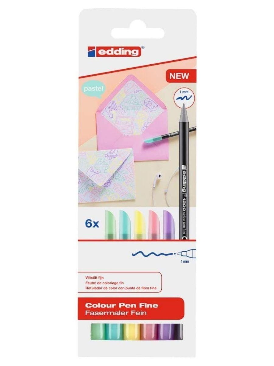 Edding 1200 - Set 6 Marcadores Pastel Finos 1.0 mm