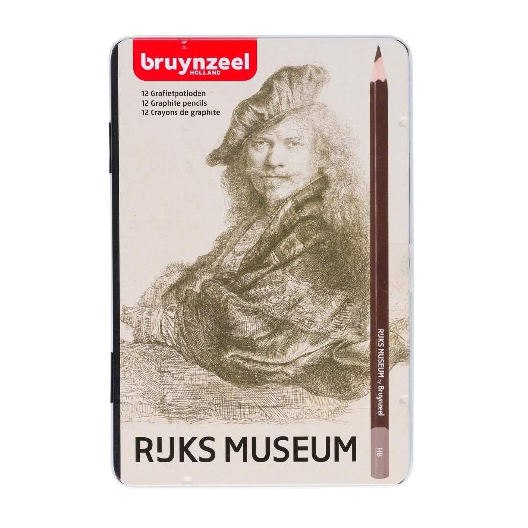 Bruynzeel Rijks Museum - Set 12 Lápices Grafito 2H a 9B