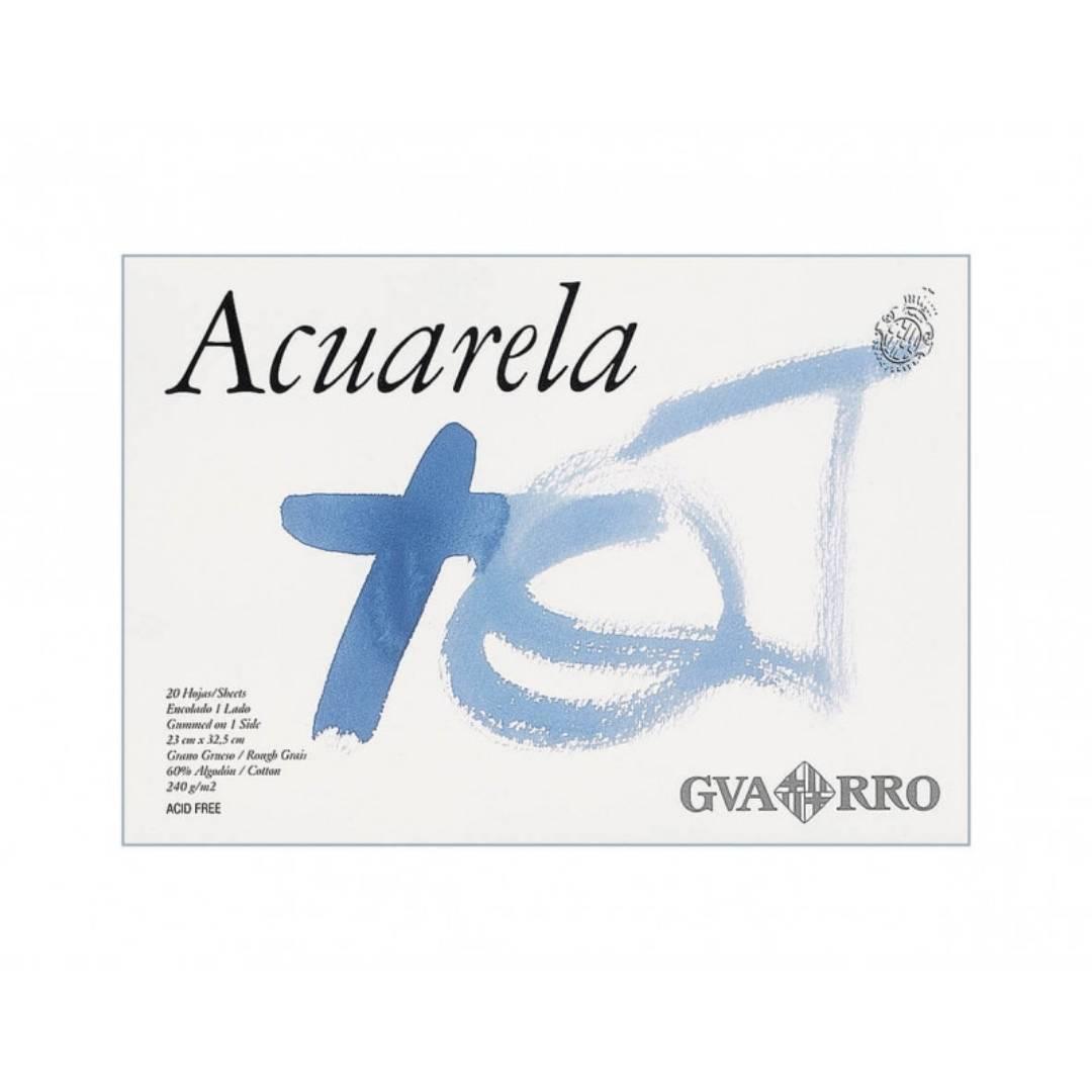 Canson Guarro - Block de Acuarela; Grano Grueso 23 x 32,5, 20 hojas, 240 g/m2