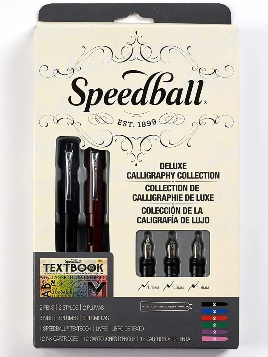 Speedball - Kit Caligrafía Pluma Fuente; Deluxe Calligraphy Collection