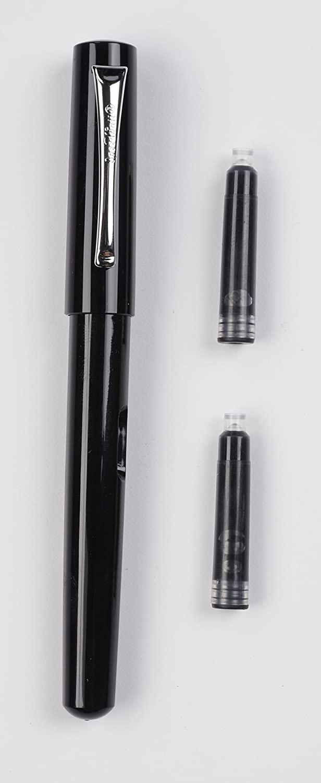 Speedball - Pluma Fuente 1,5 mm con 2 Cartuchos Tinta