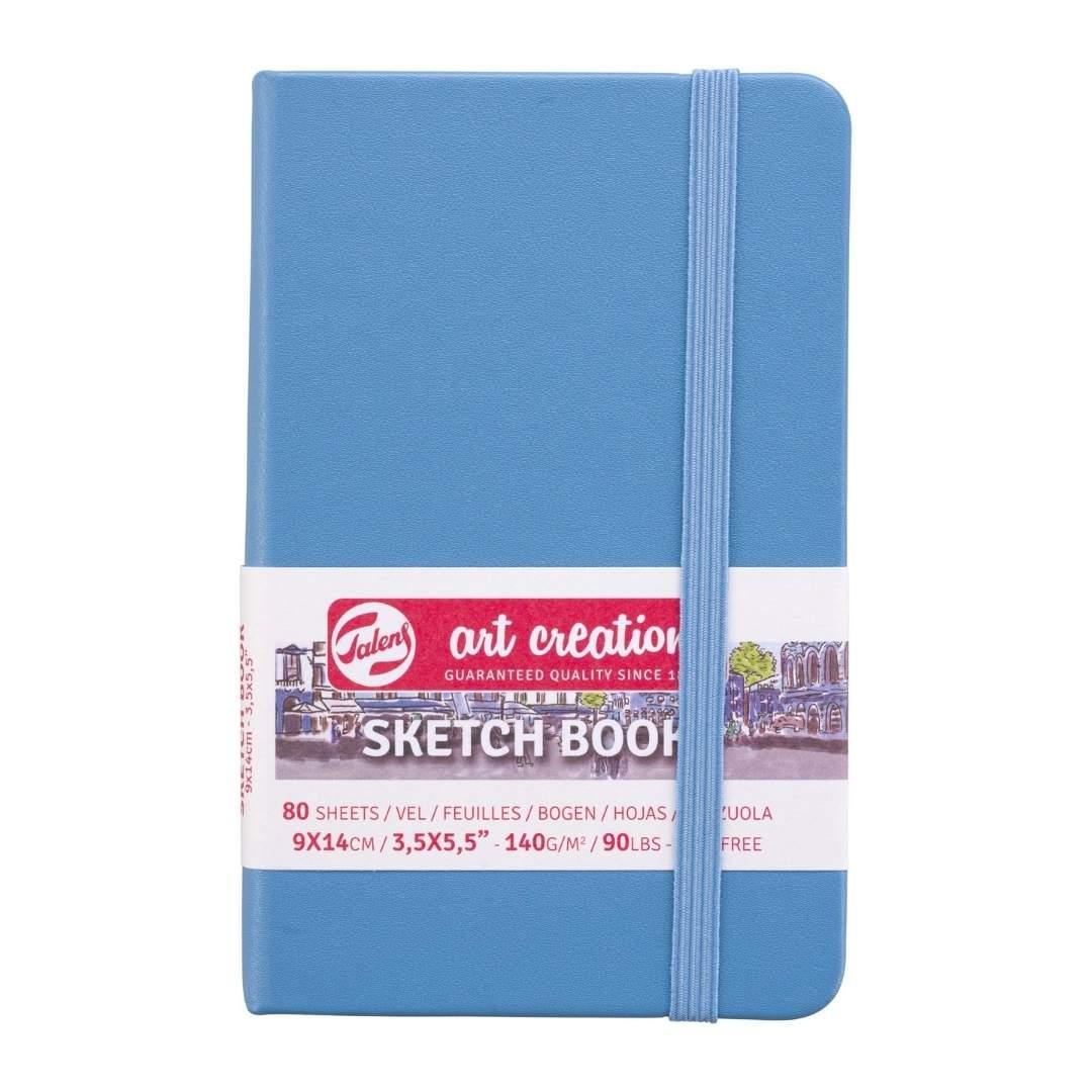 Talens Art Creation Sketch Book - Libreta Lake Blue 9 x 14 cm, 80 Hojas, 140 g/m2