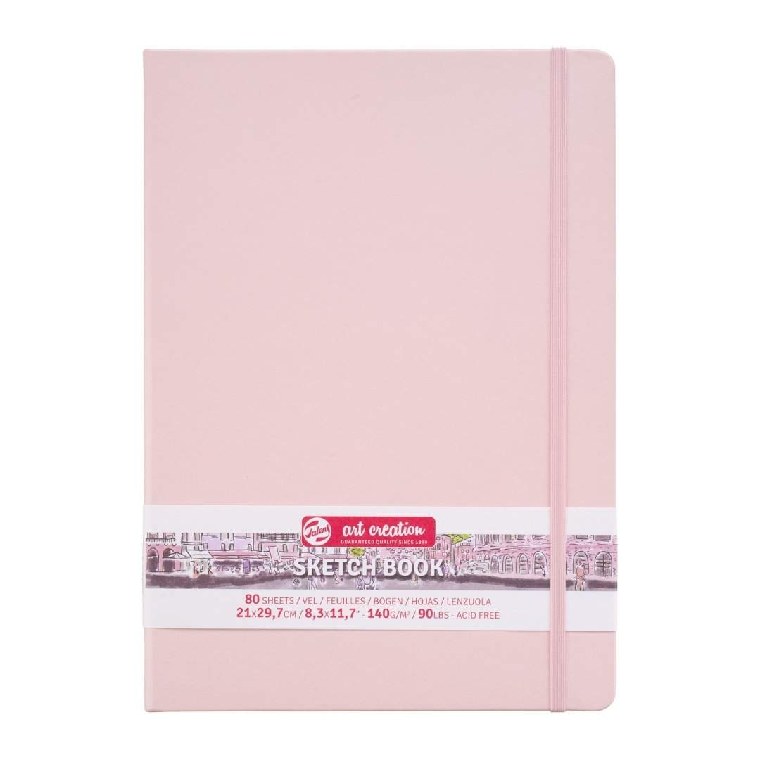 Talens Art Creation Sketch Book - Libreta Pastel Pink 21 x 30 cm, 80 Hojas, 140 g/m2