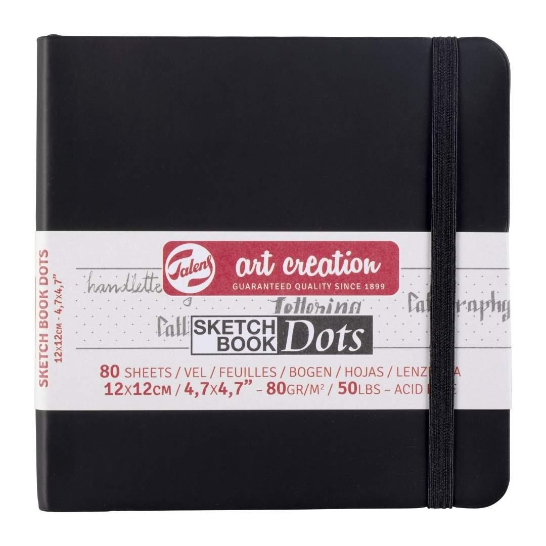 Talens Art Creation Sketch Book Dots - Libreta 12 x 12 cm, 80 Hojas, 80 g/m2