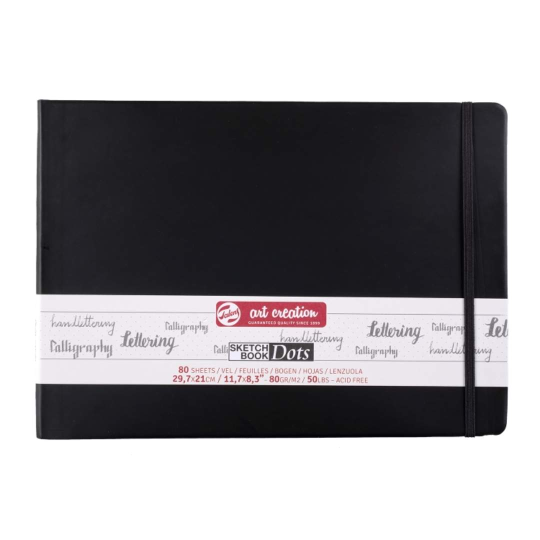 Talens Art Creation Sketch Book Dots - Libreta Horizontal 21 x 30 cm, 80 Hojas, 80 g/m2
