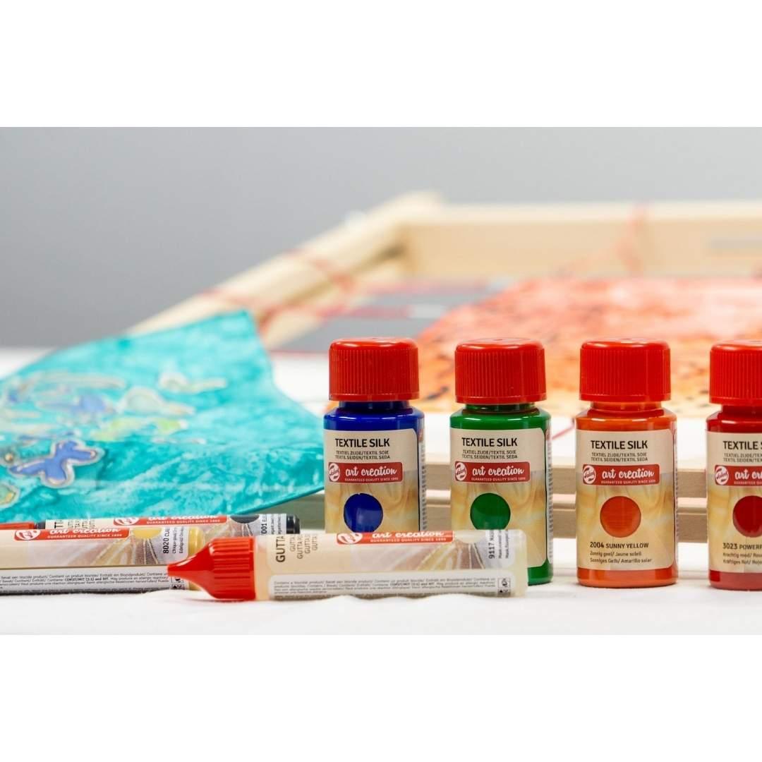 Talens Art Creation Textile - Set 4 Colores Pintura Textil Seda Frascos 50 ml