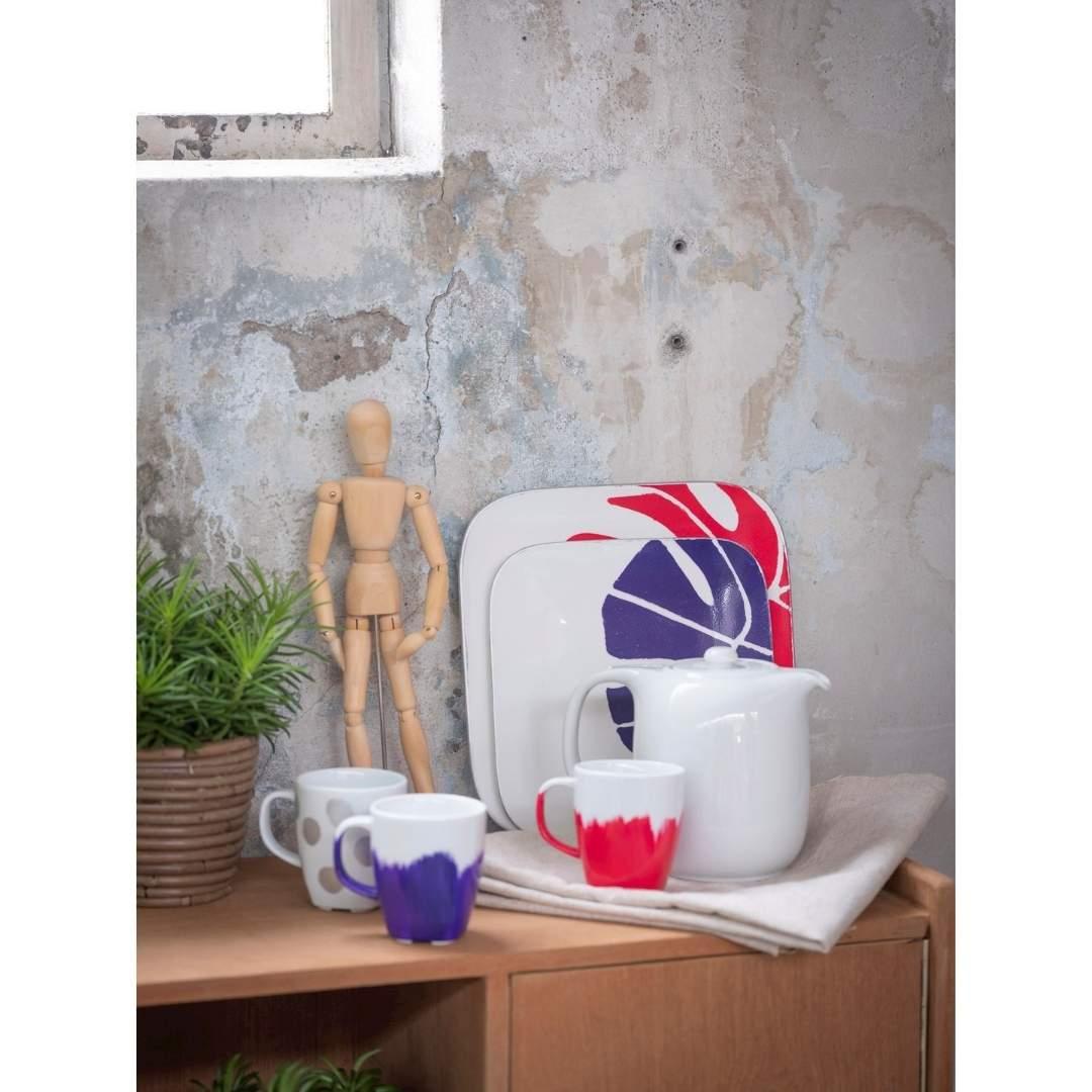Talens Art Creation Glass & Porcelain - Set 4 Pinturas para Porcelana Florales Opaco; 30 ml