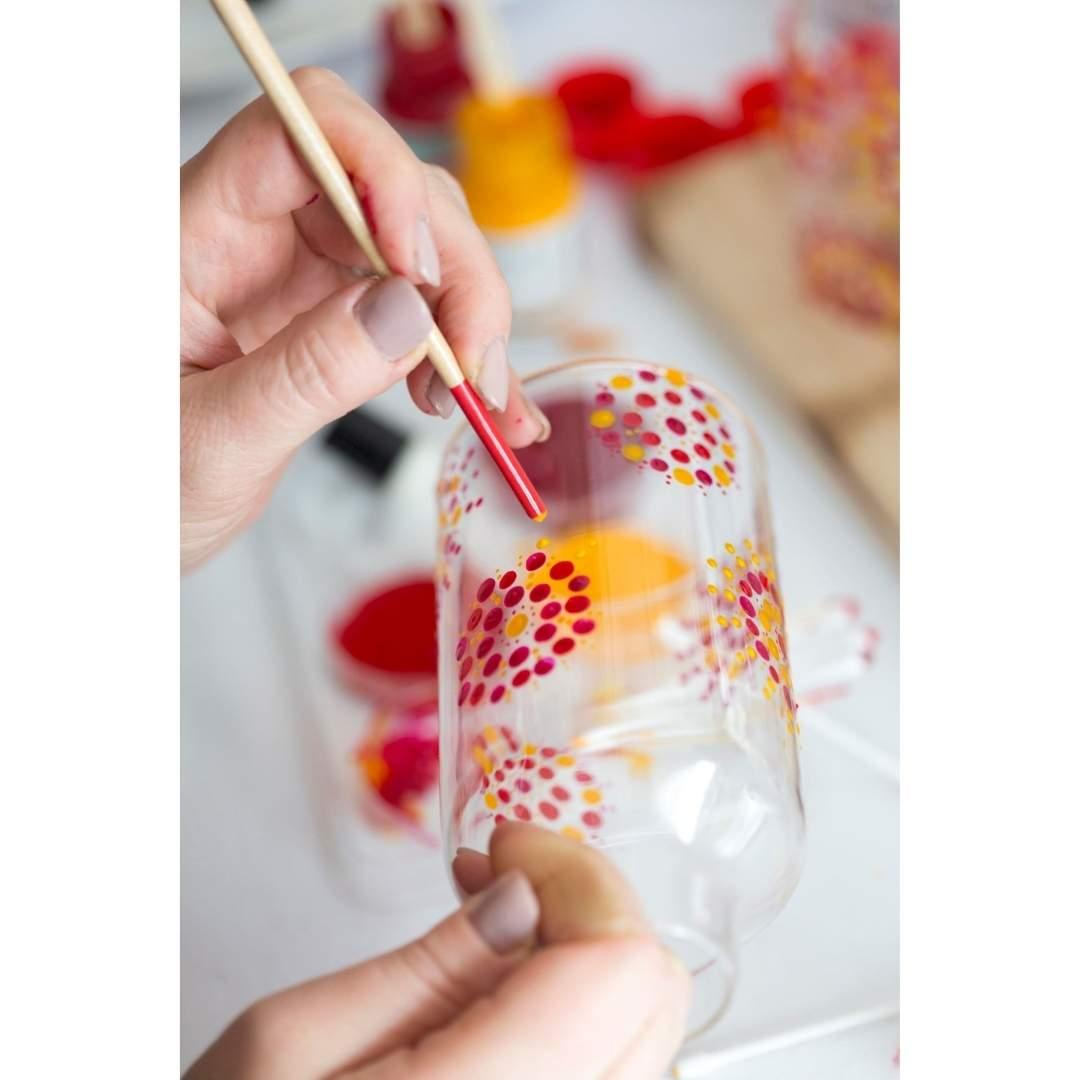 Talens Art Creation Glass & Porcelain - Set 4 Pinturas para Porcelana Rosados Transparente; 30 ml