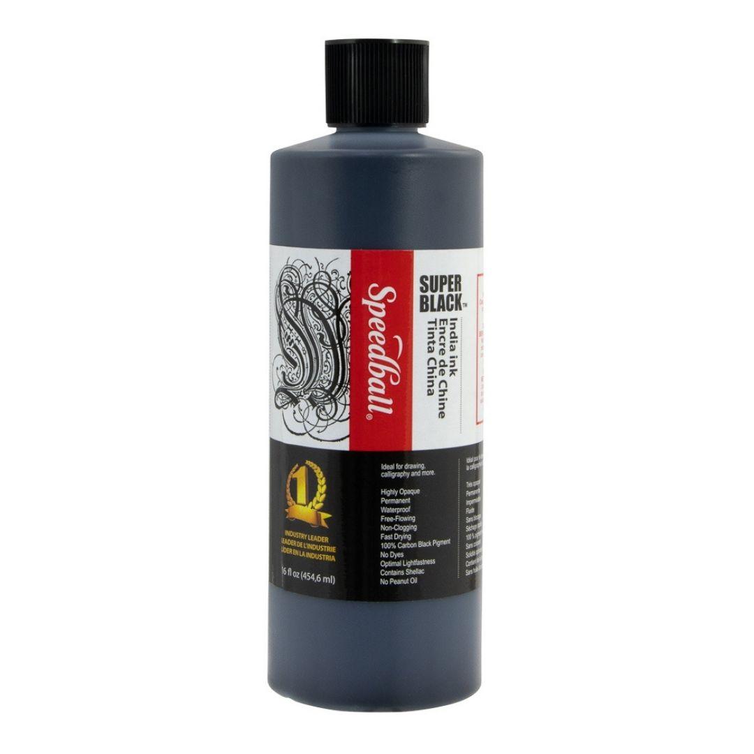 Speedball Super Black - Tinta China Botella 454 ml