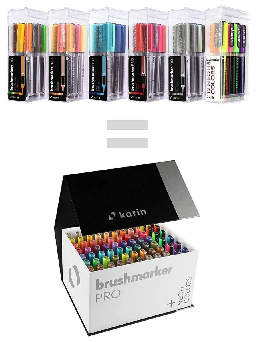 Karin BrushMarker Pro - Set 72 Marcadores Mega Box Plus