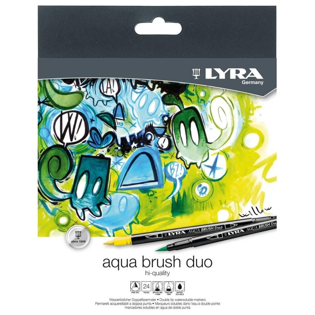 Lyra Aqua Brush Duo - Set 24 Marcadores Doble Punta