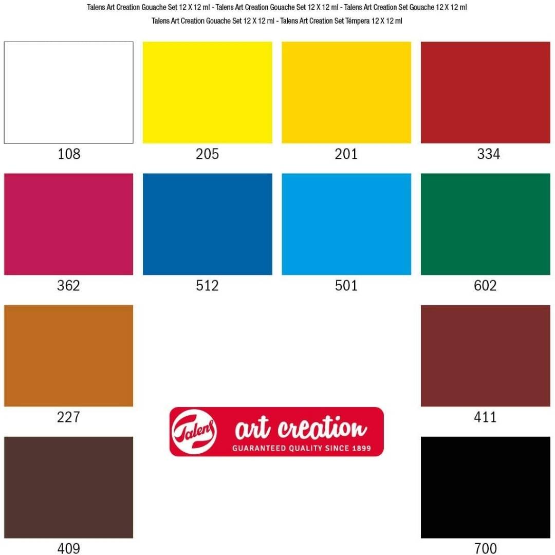 Talens Art Creation - Set 12 Pinturas Gouache Colores 12 ml