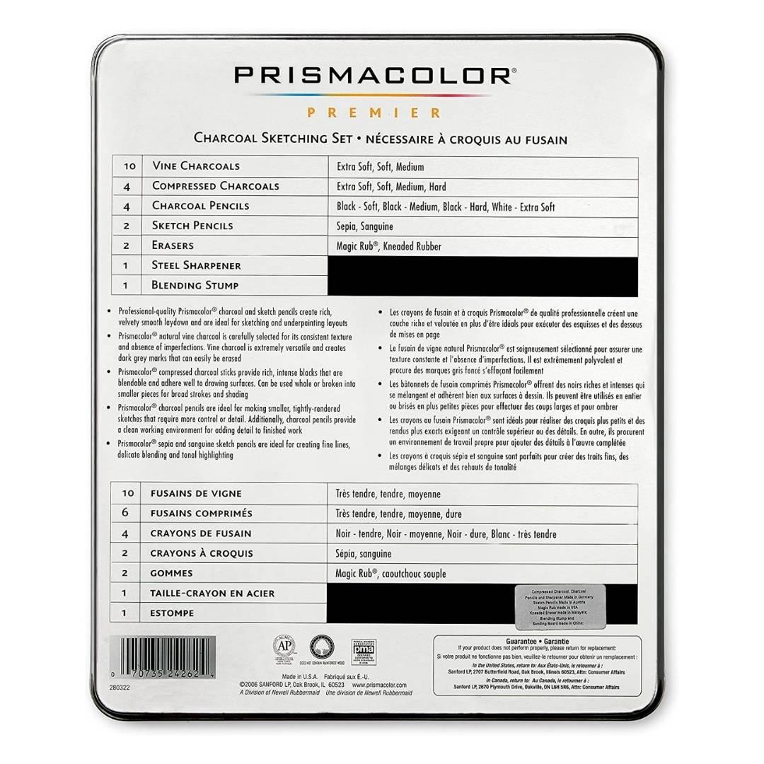 Prismacolor Premier - Kit Carboncillo; 25 Piezas