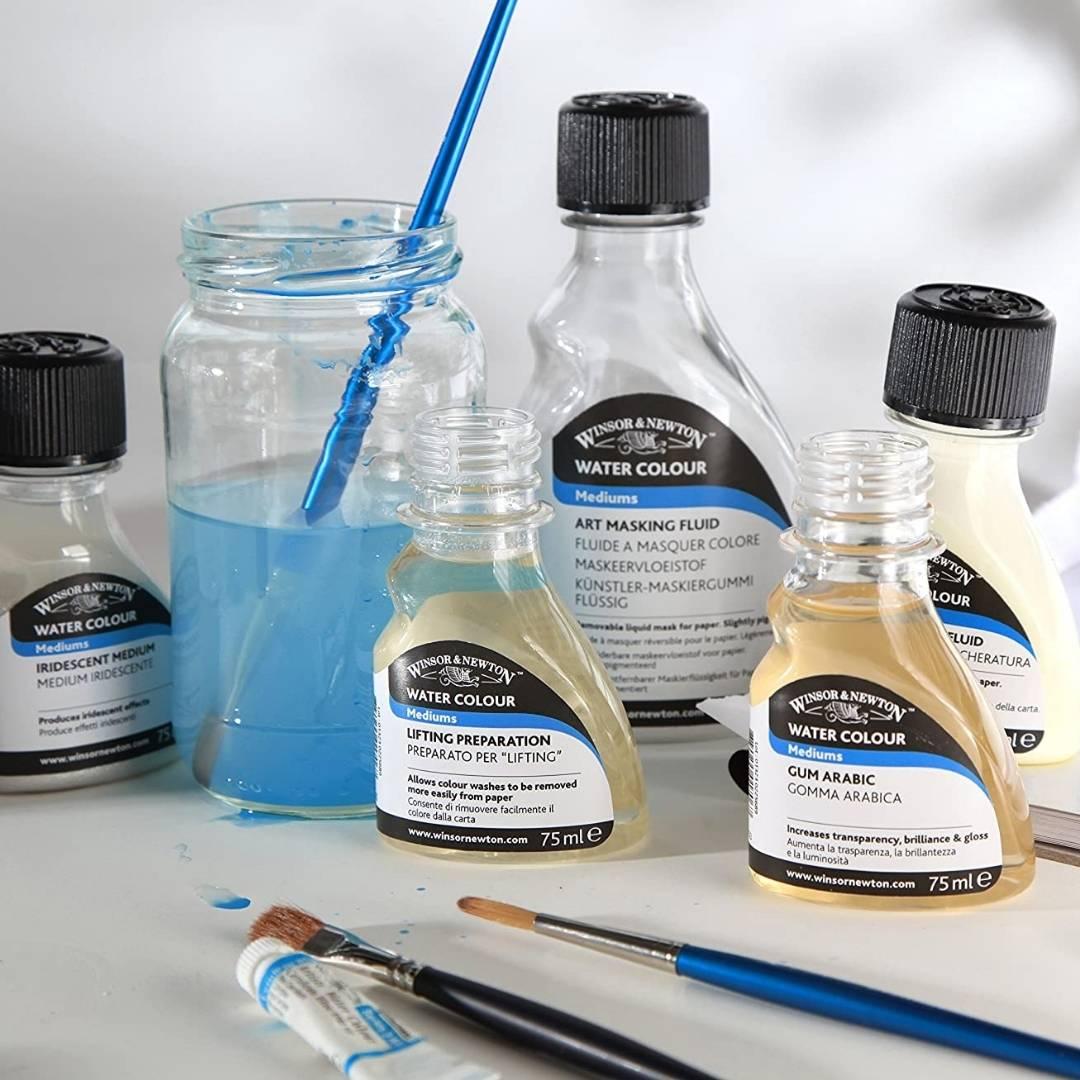Winsor & Newton Watercolour - Líquido Enmascarador Botella 250 ml; Ligeramente Pigmentado