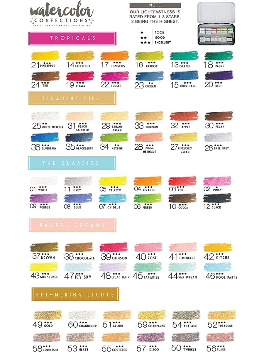 Art Philosophy Watercolor Confections - Set 12 Acuarelas Pastel Dreams