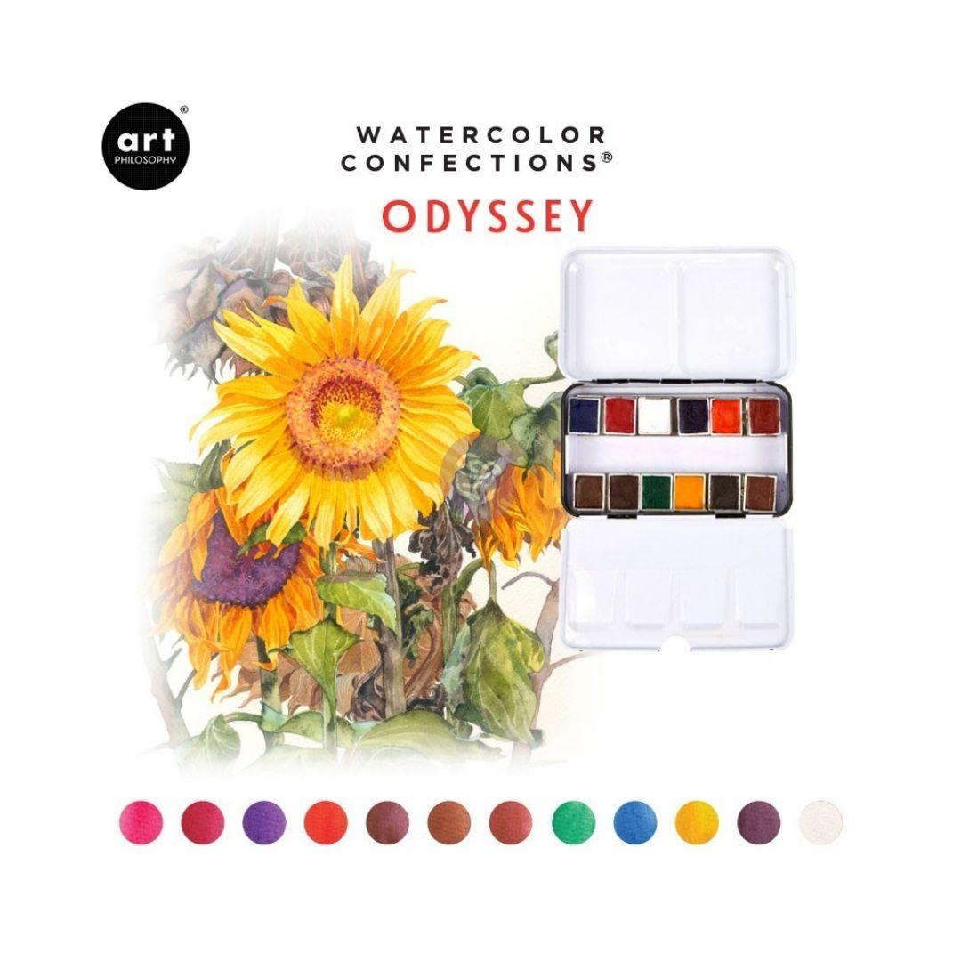 Art Philosophy Watercolor Confections - Set 12 Acuarelas Odyssey
