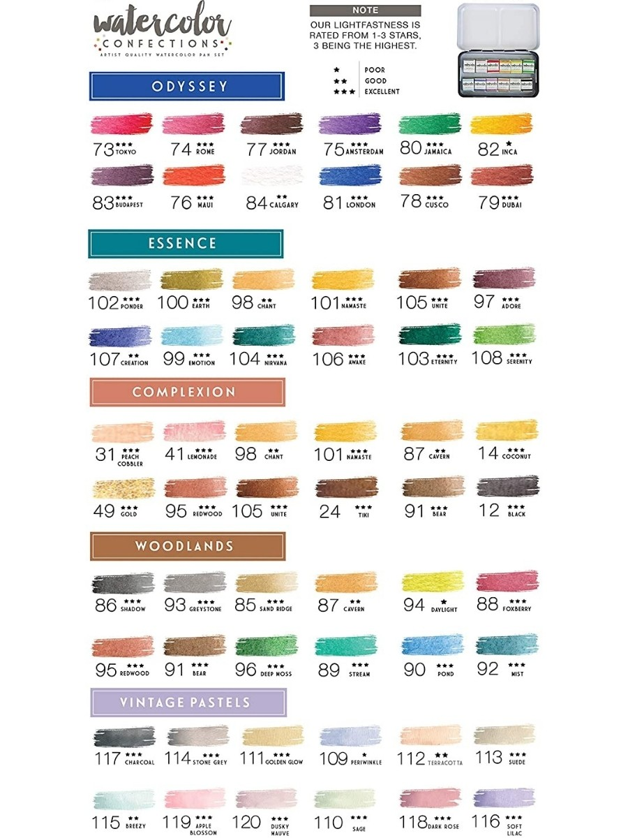 Art Philosophy Watercolor Confections - Set 12 Acuarelas Currents