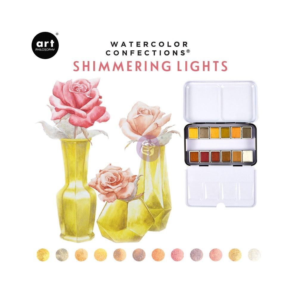 Art Philosophy Watercolor Confections - Set 12 Acuarelas Shimmering Lights
