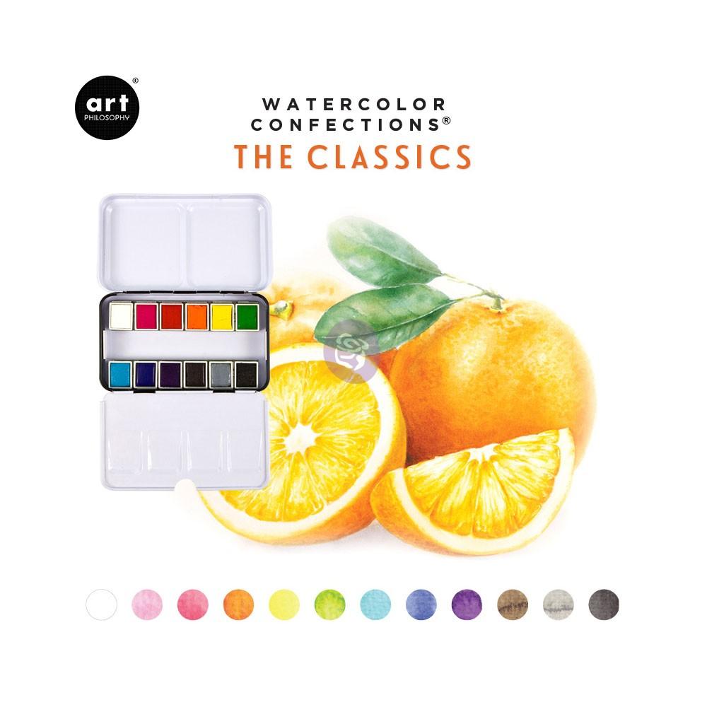 Art Philosophy Watercolor Confections - Set 12 Acuarelas The Classics