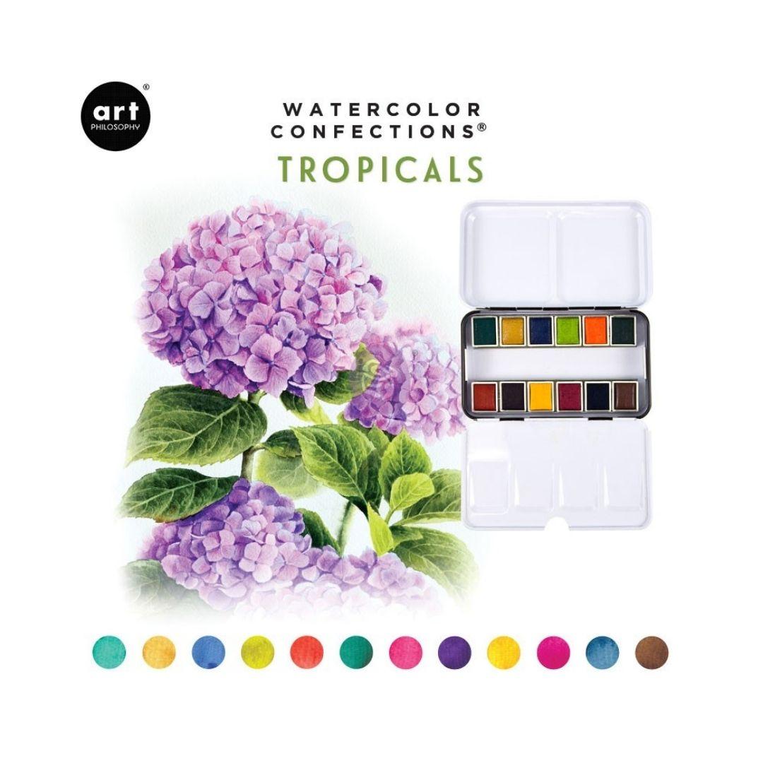 Art Philosophy Watercolor Confections - Set 12 Acuarelas Tropicals