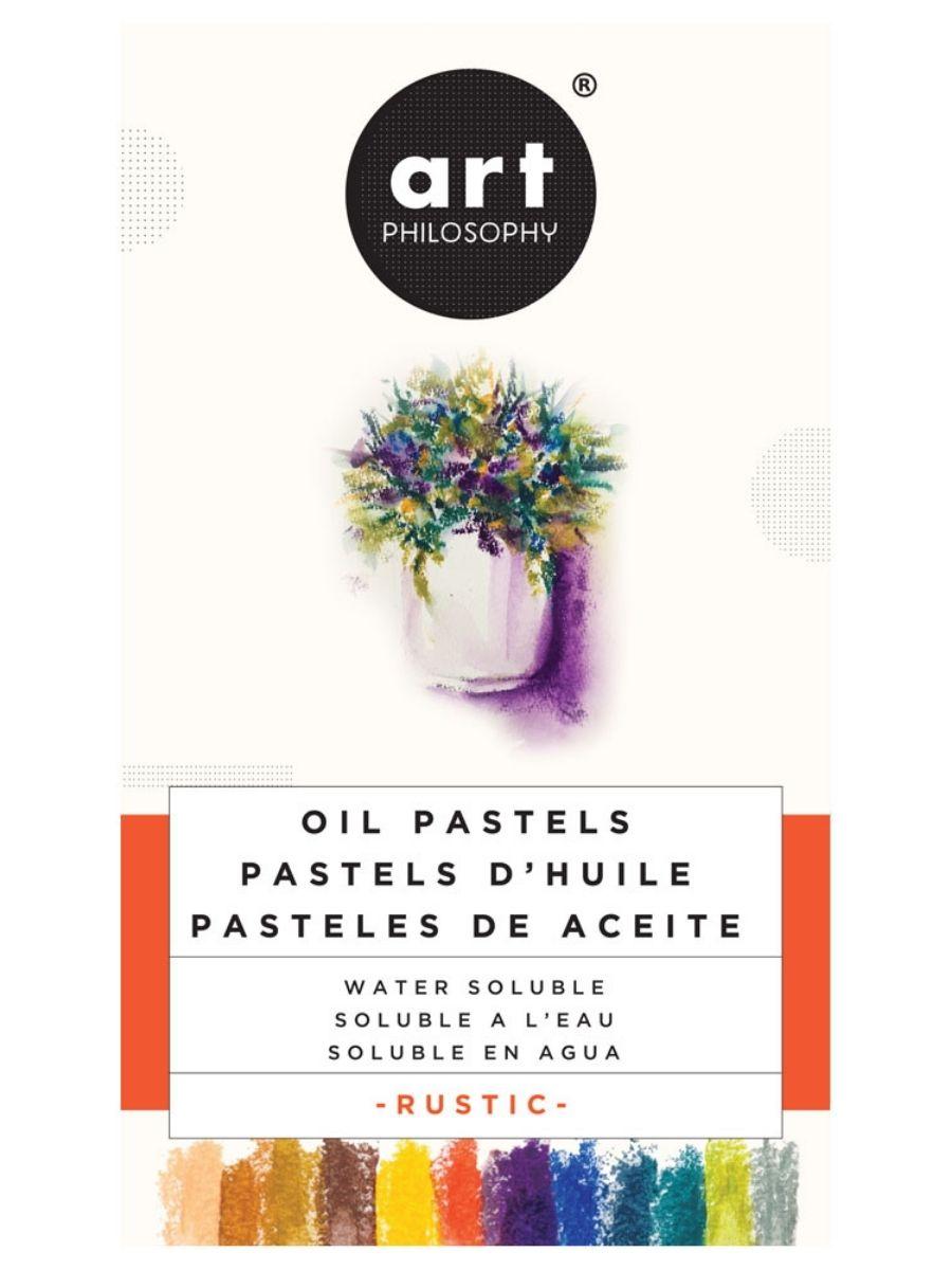 Art Philosophy - Set 12 Pasteles al Óleo Solubles en Agua Rustic