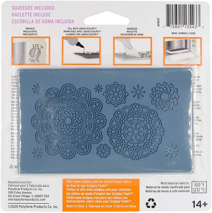 Sculpey - Molde para Arcilla Horneable de Silicona; Mandala