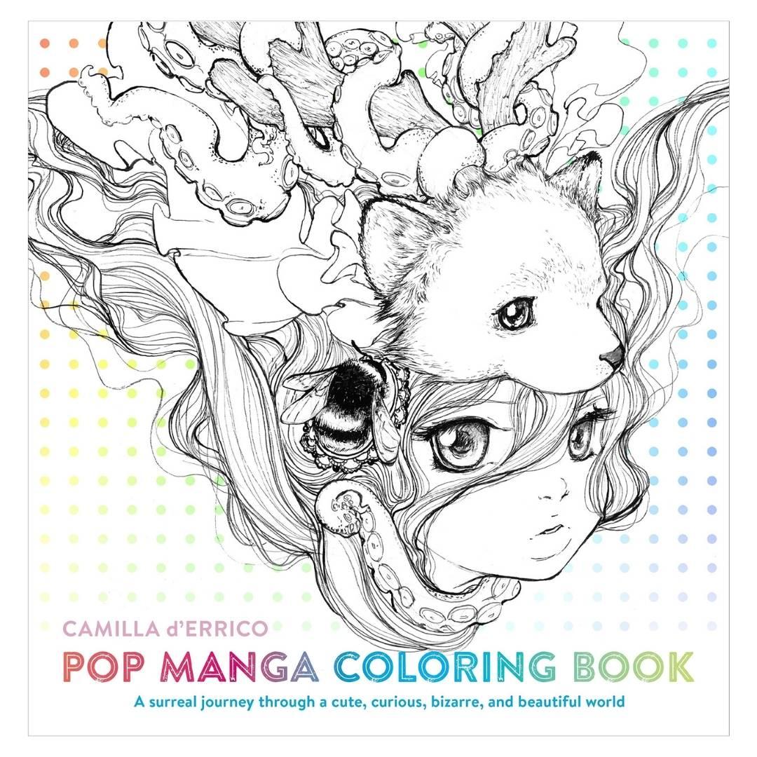 Pop Manga Coloring Book - Camilla d'Errico