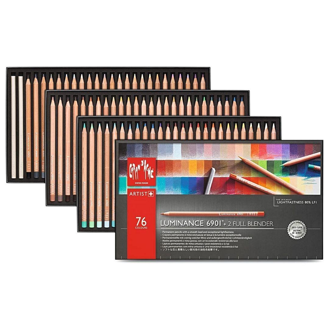 Caran d'Ache Luminance - Set 76 Lápices de Colores y 2 Full Blender
