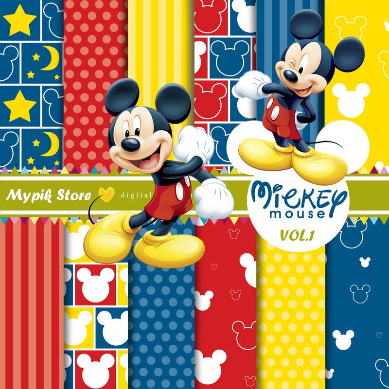 kit digital mickey mouse mypik store scrapbook