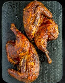 Medio Pollo Ahumado
