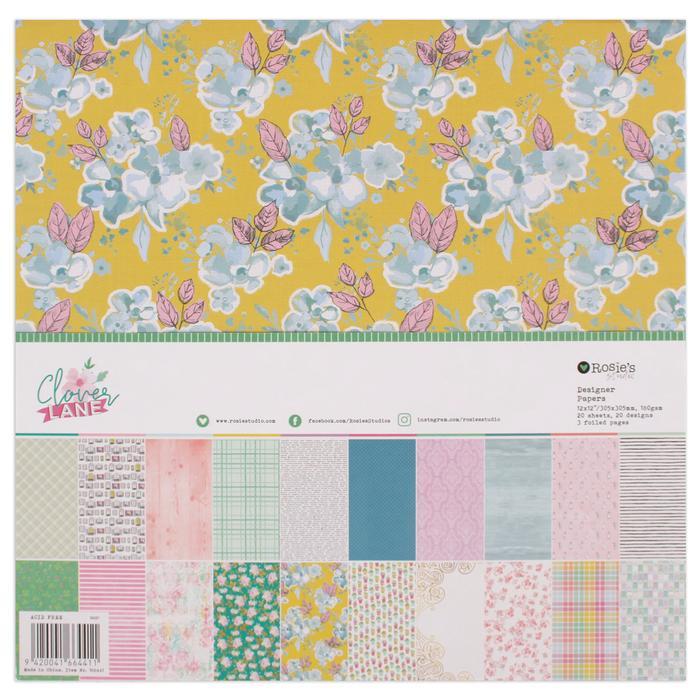 Clover Lane 12x12 Designer Paper Pad 20 sheet