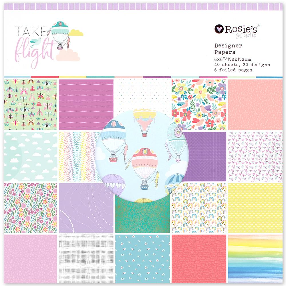 Take Flight 6×6 Designer Paper Pad 40 Hojas