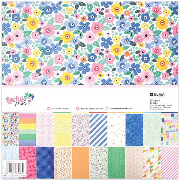 Lucky Me 12x12 Designer Paper Pad 20 sheet
