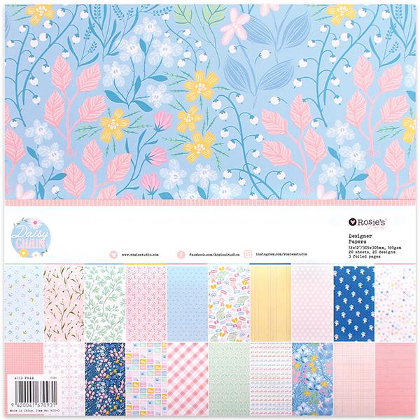 Daisy Chain 12x12 Designer Paper Pack 20 sheet