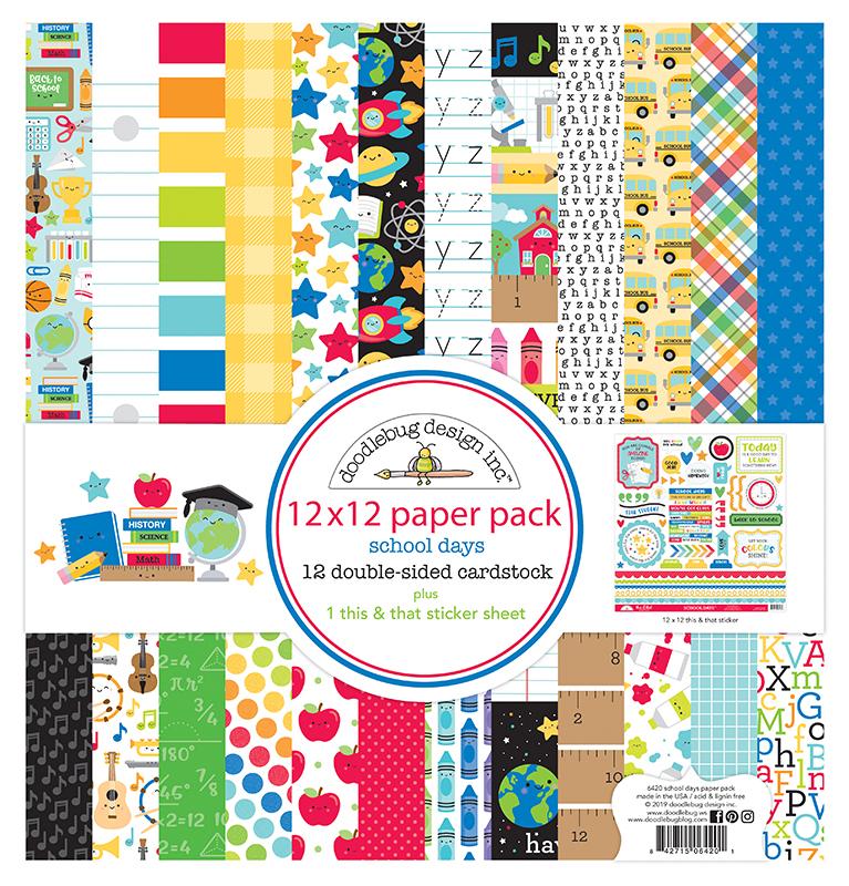 School Days 12 x 12 Paper Pack