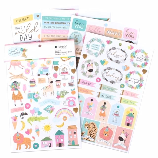 Just Saying Sticker Embellishment Pack 5pk