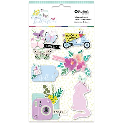 Dimensional embellishment Colección Chasing butterflies