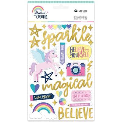 Glitter foam sticker Colección Dream in colour
