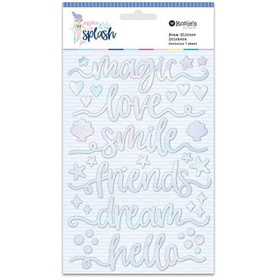 Glitter foam stickers palabras Colección Make a Splash
