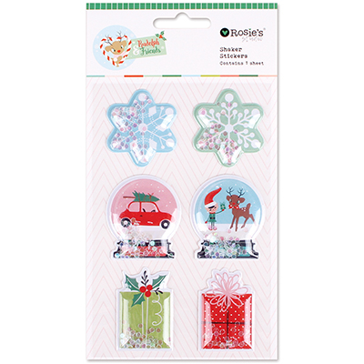 Shaker stickers colección Rudolph and friends