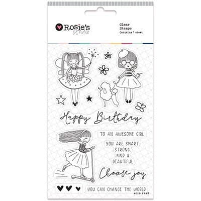 Clear Stamps - Lil Rosie A