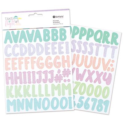 Take Flight Glitter Cardstock Alphabet 2 sheets
