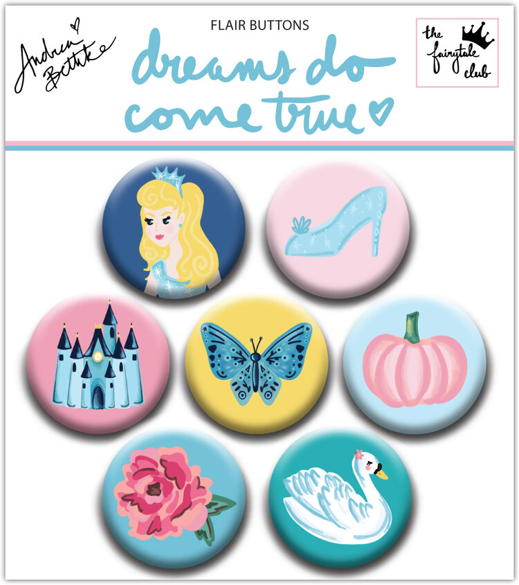 chapas FLAIR BUTTONS Colección dreams do come true