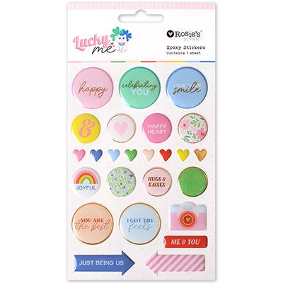 Lucky Me Epoxy Stickers