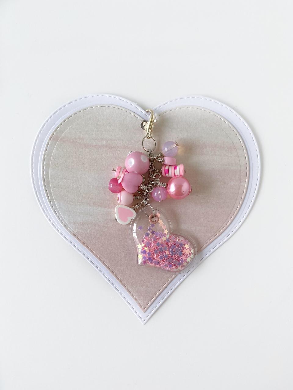 Charm Mini Corazon  Rosa