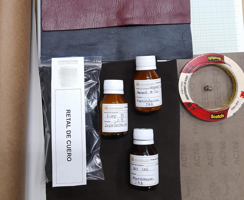 Kit de materiales tejamos en cuero