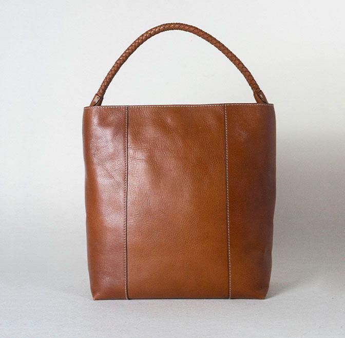 SHOPPING BAG - BRAIDED HANDLE