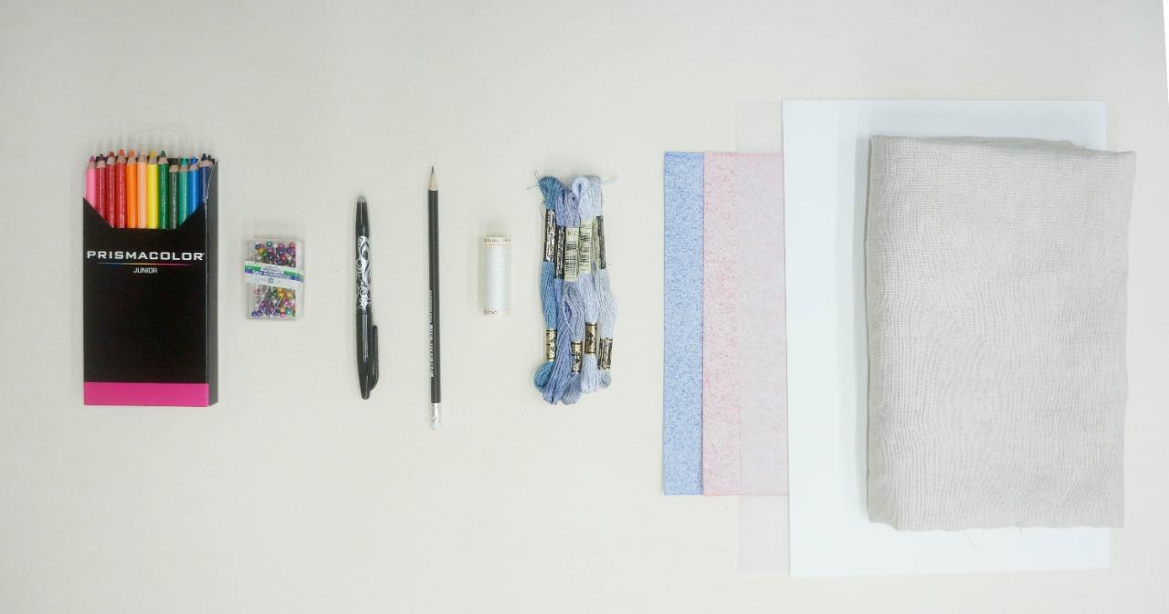 Kit de materiales ilustración en punto matiz