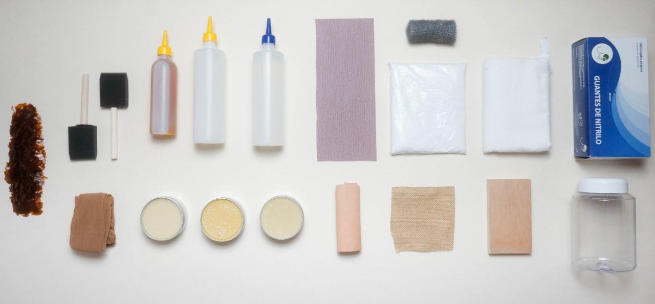 Kit de materiales: Acabados para madera