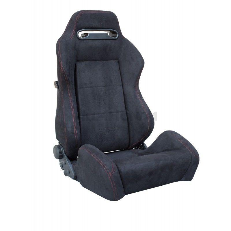 SIMONI RACING BUCKET SEAT TYPE R LOOK BLACK/RED STICHING (UNIVERSAL)